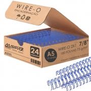 Wire-o para Encadernação A5 7/8 2x1 para 180fls Azul 24un
