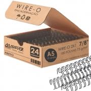 Wire-o para Encadernação A5 7/8 2x1 para 180fls Preto 24un