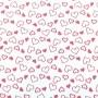 Folha de EVA Corações Vermelho 40x48 1,5mm pacote com 10 un