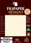 Papel Dourado Metálico A4 210x297mm 180g Filipaper 15 folhas