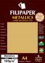 Papel Ouro Metálico A4 210x297mm 180g/m² Filipaper 15 folhas