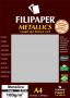Papel Prata Metálico A4 210x297mm 180g/m² Filipaper 15fls
