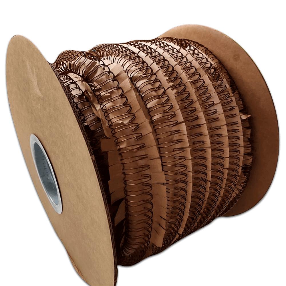 Bobina Wire-o 2x1 Bronze 3/4 para 140 fls 8.000 anéis Marpax