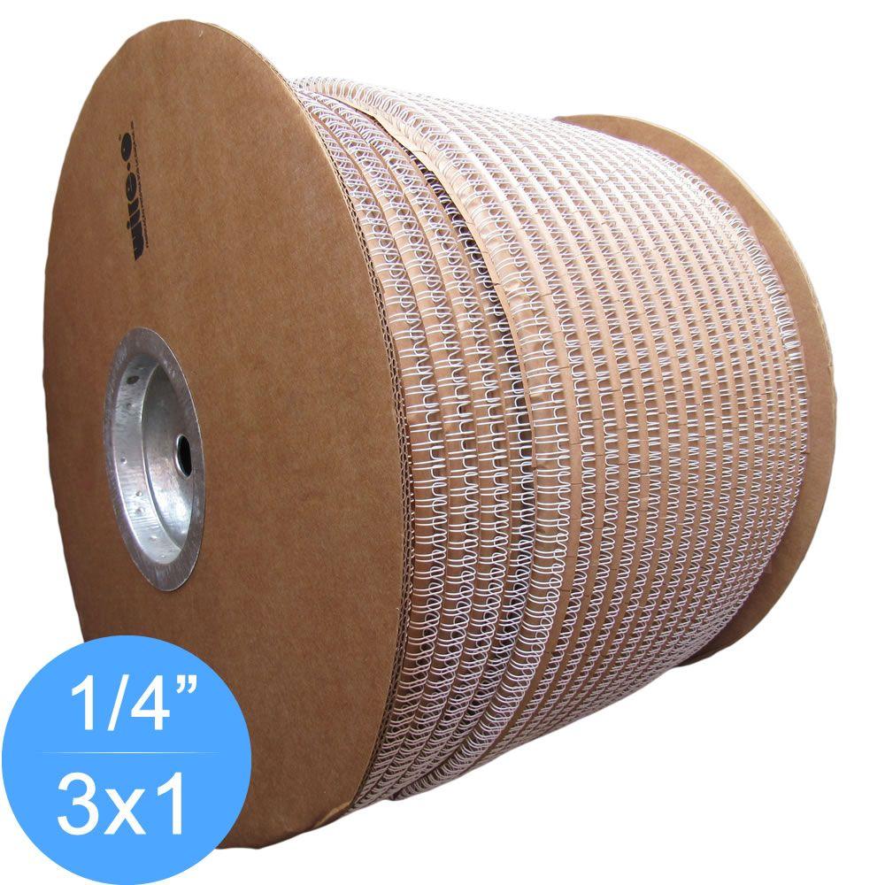 Bobina Wire-o 3x1 Branco 1/4 para 25 fls 91.000 anéis