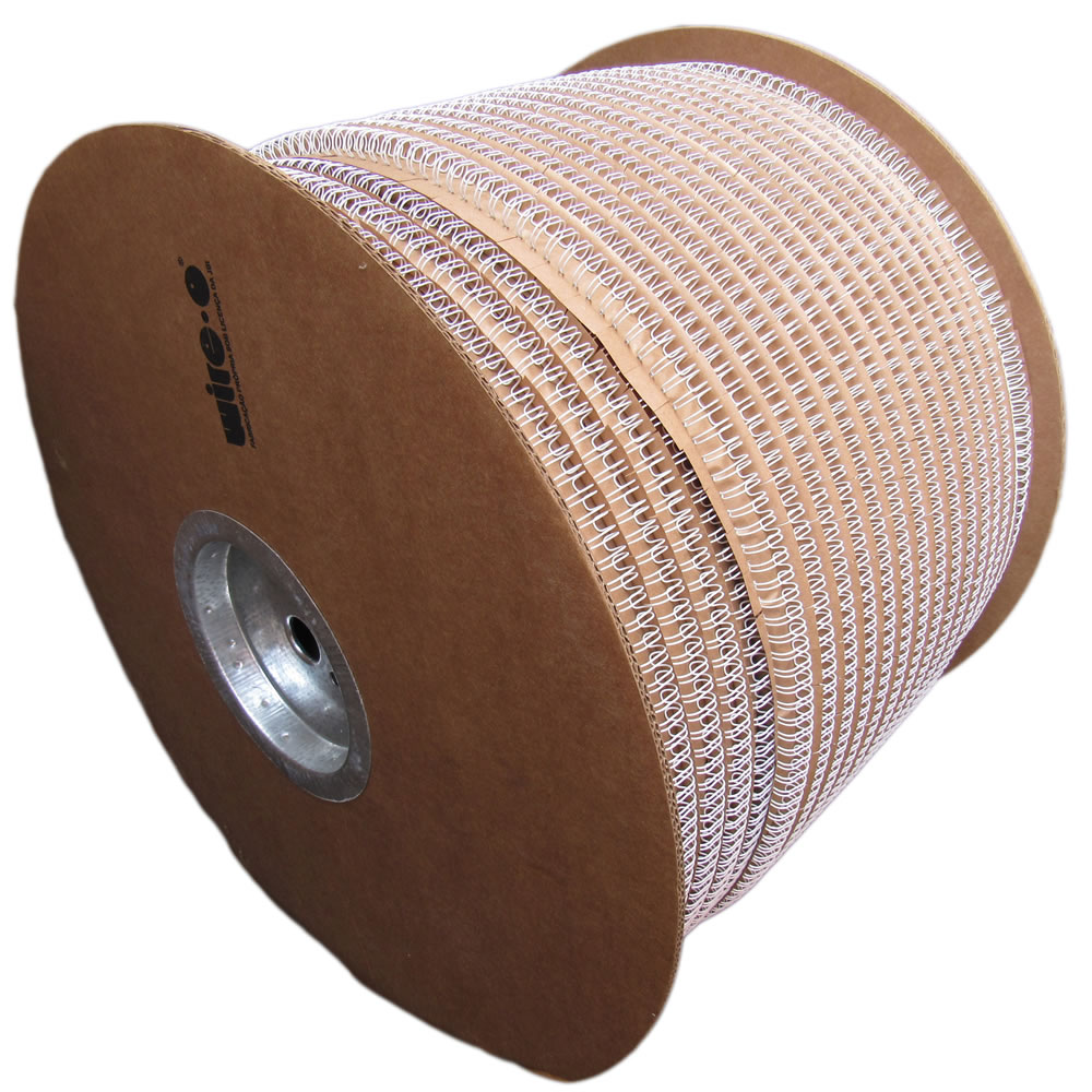 Bobina Wire-o 3x1 Branco 3/8 para 60 fls 45.000 anéis