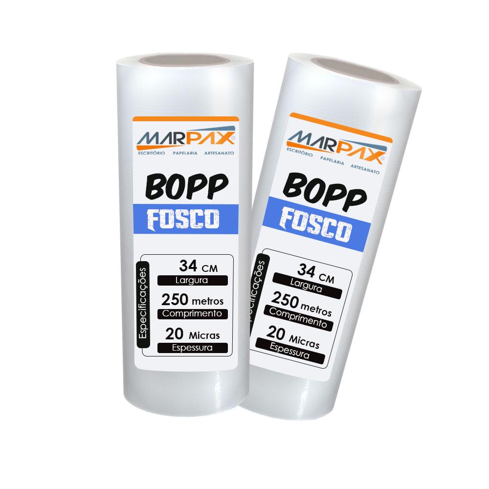 BOPP Fosco para laminação Bobina A3 34cmx250m Marpax 2un