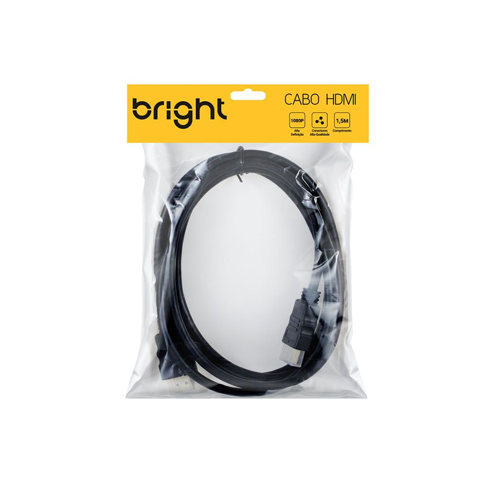 Cabo HDMI Blindado 1,80 metros Bright 01un