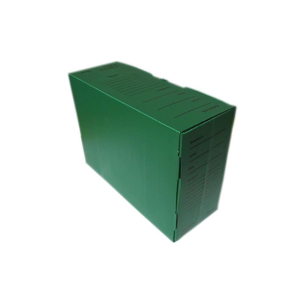 Caixa Arquivo Morto Plástica Verde 360x250x140mm Alaplast 01un