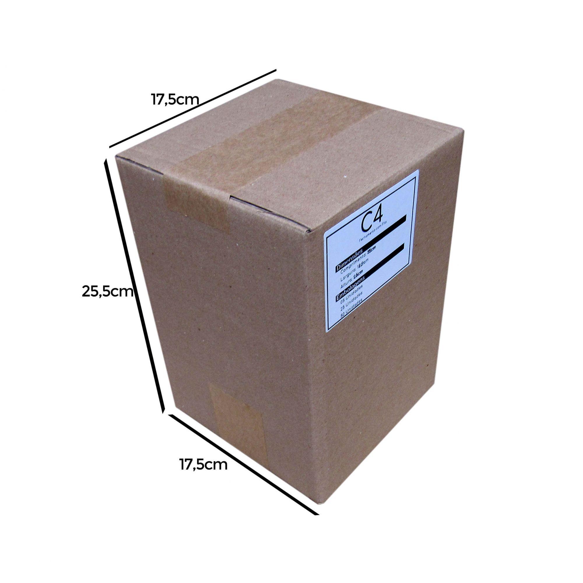 Caixa de Papelão para correios C4 18x18x26cm Marpax 25 un