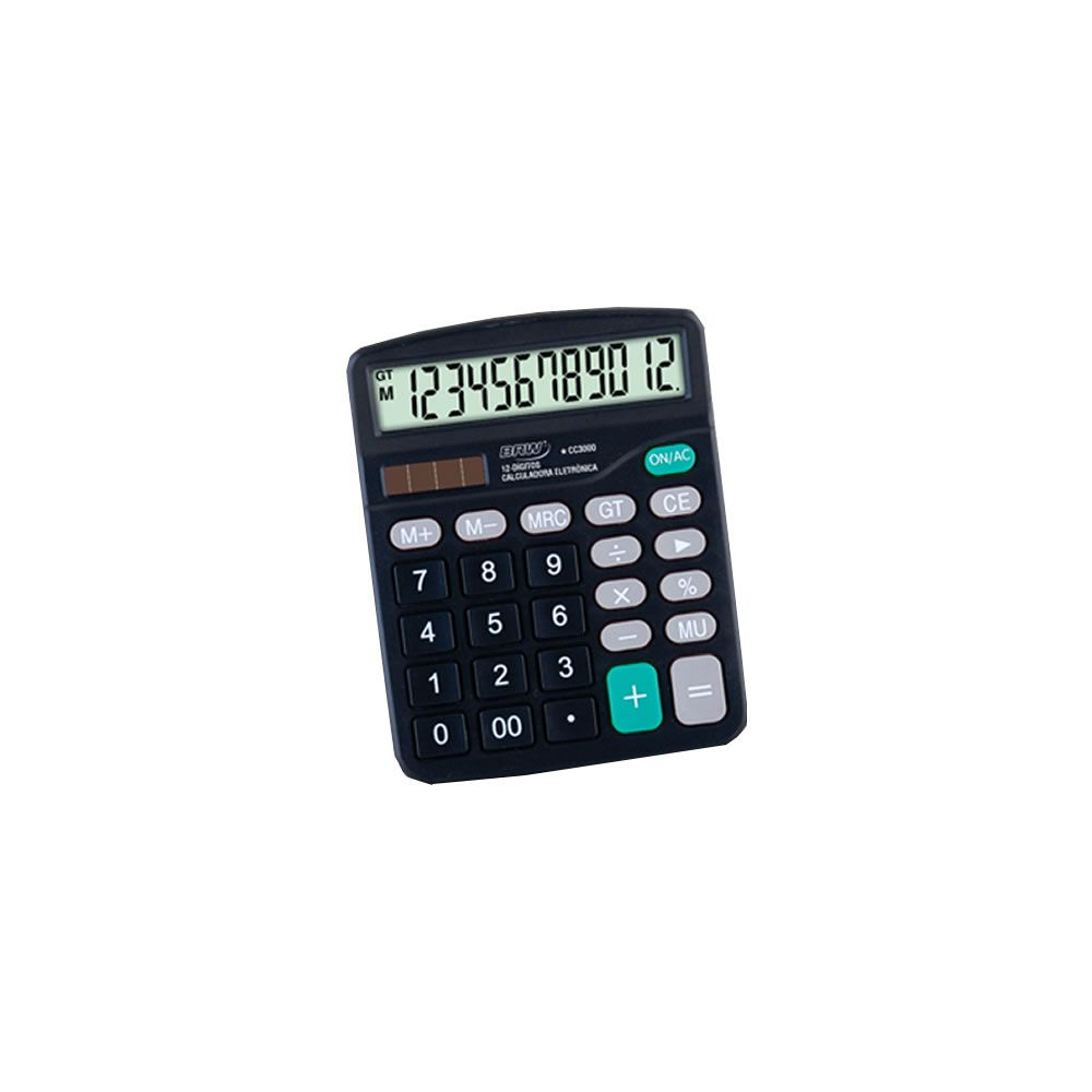 Calculadora de mesa Média 12 Dígitos CC3000 BRW 01un