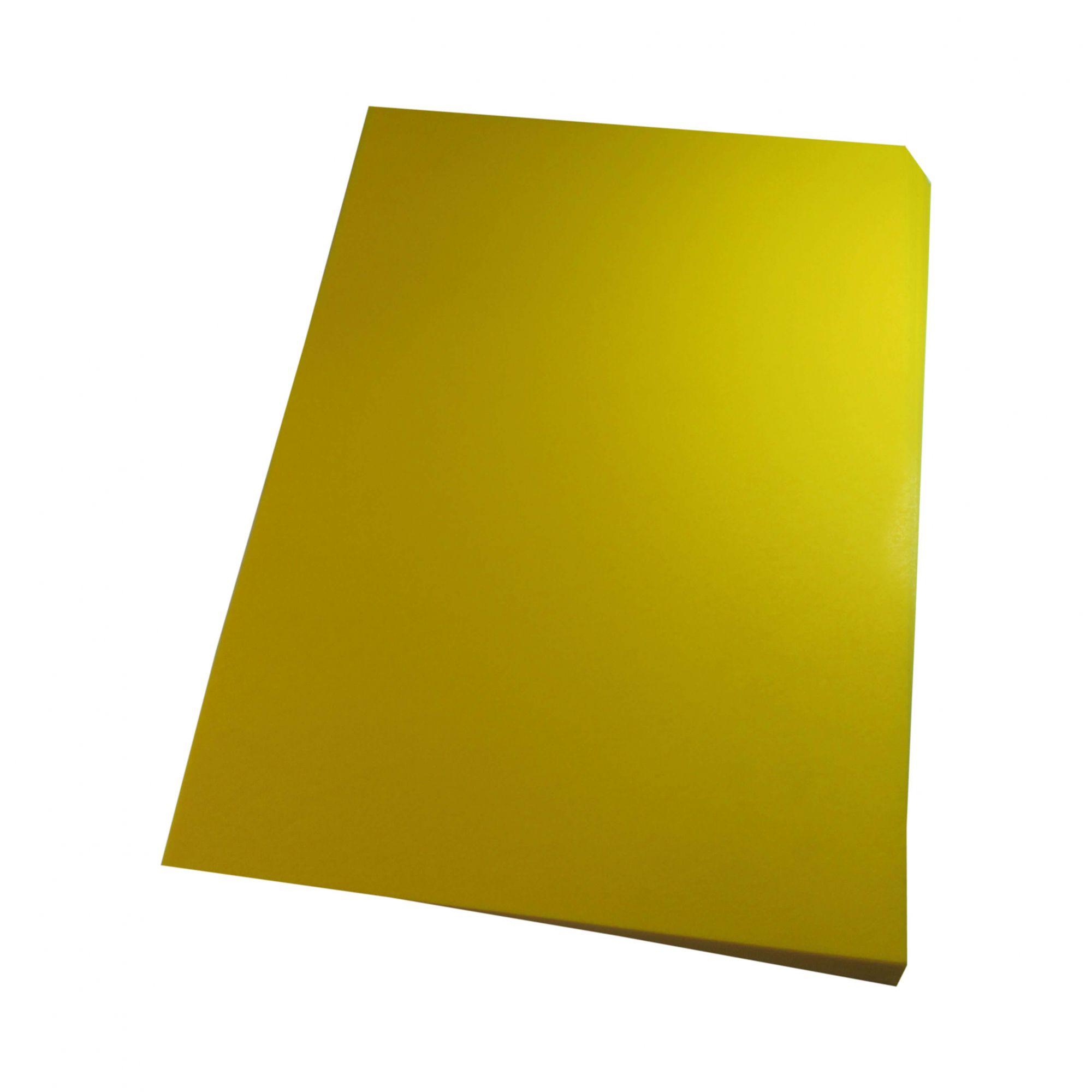 Capa para Encadernação A4 Amarelo Couro Fundo PP 0,30 100un