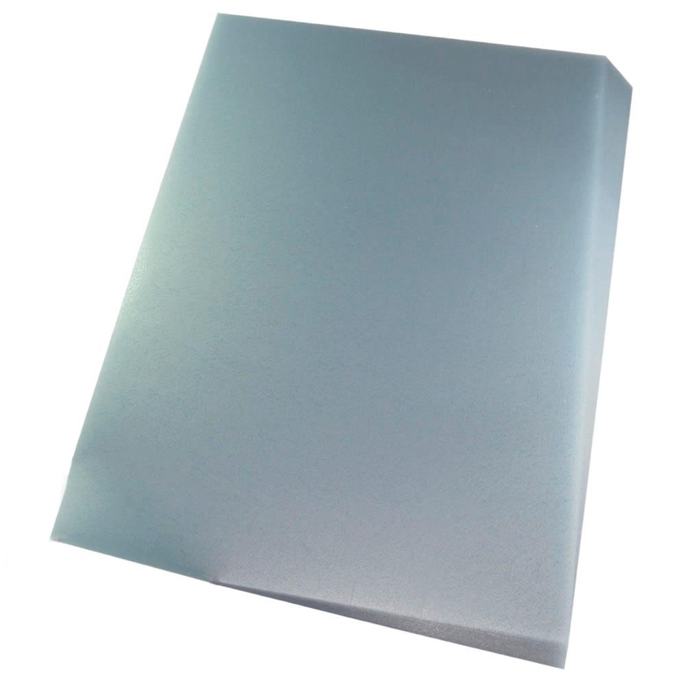 Capa para Encadernação A4 Cristal Couro Frente PP 0,30 100un