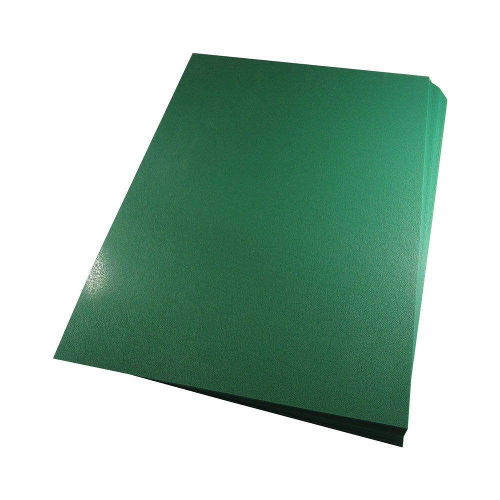 Capa para Encadernação A4 Verde Bandeira Couro PP 0,30 50un