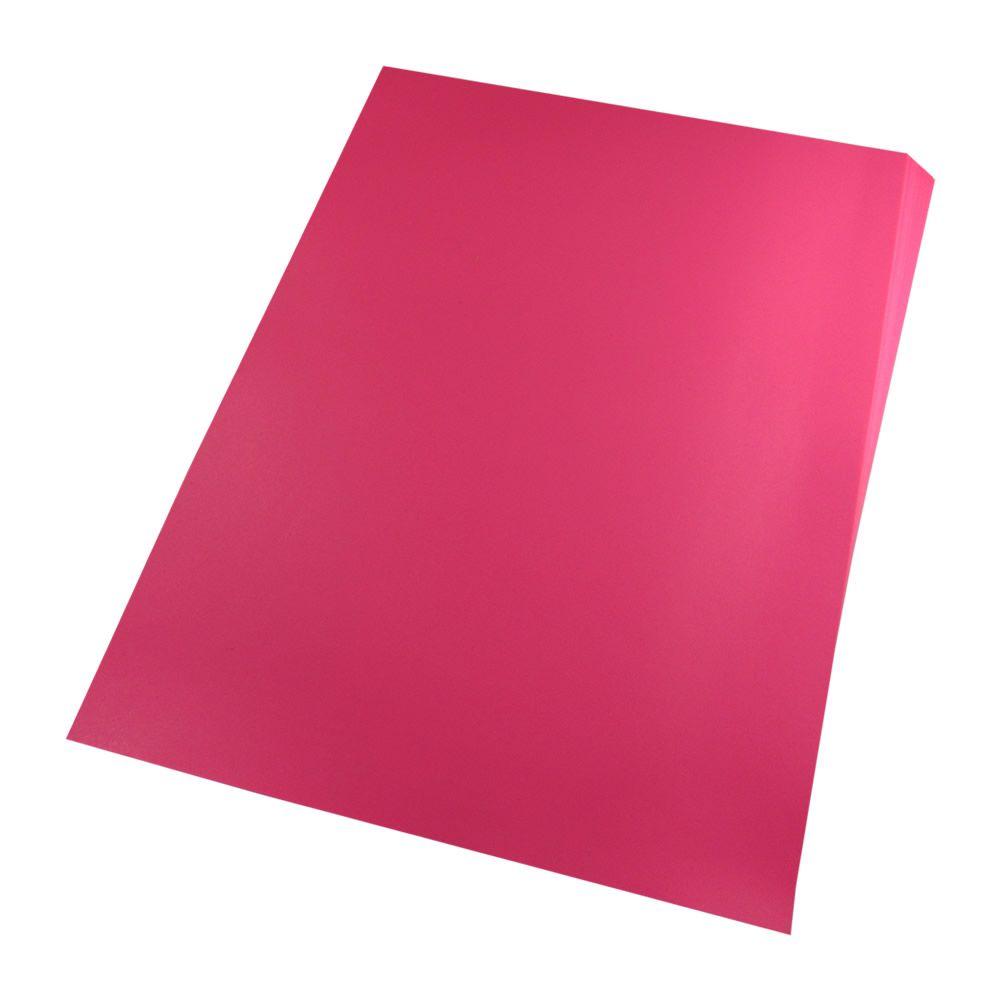 Capa para Encadernação PVC A4 Rosa Fundo camurça 100un