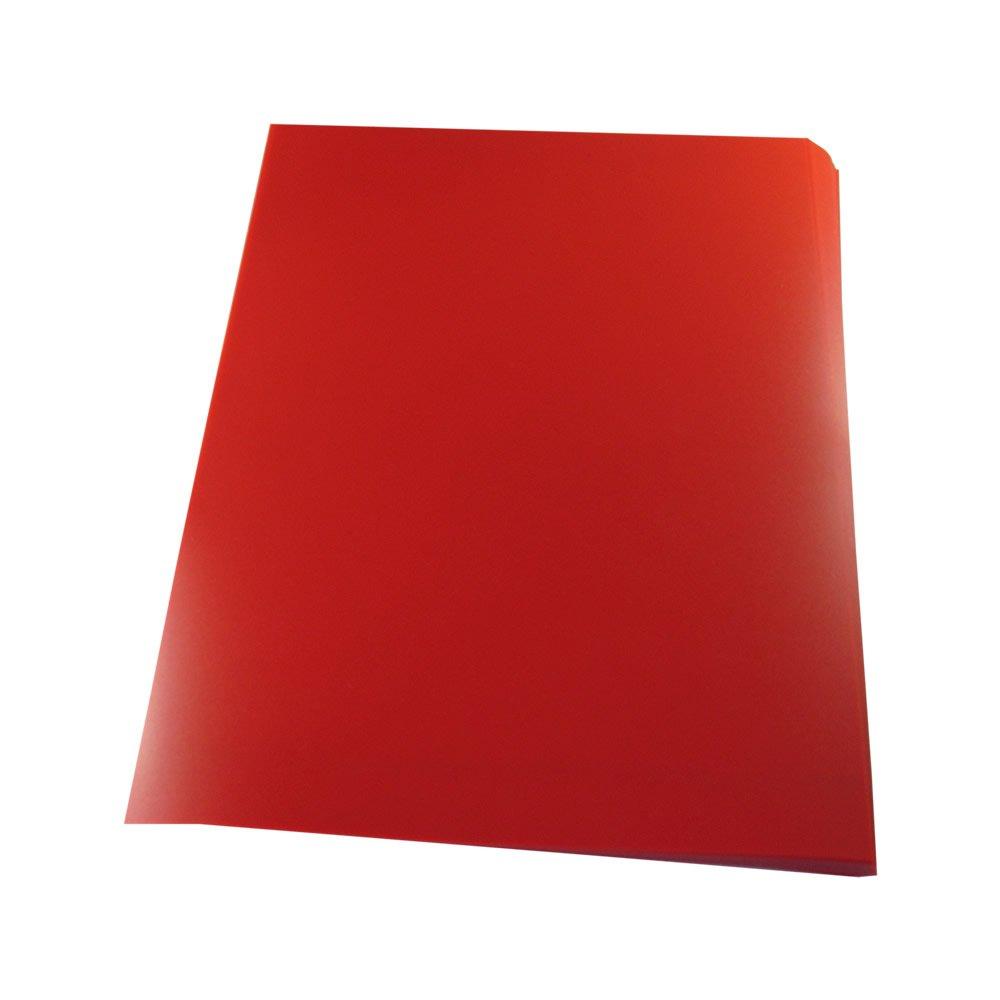 Capa para Encadernação PVC A4 Vermelho Fundo Camurça 100un