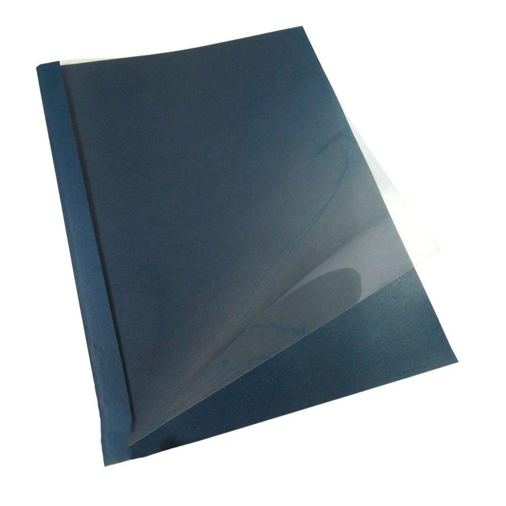 Capa Térmica Crystal Paper Azul A4 12mm 81 à 120 folhas 05un