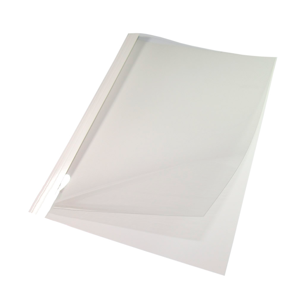 Capa Térmica Crystal Paper Branco A4 18mm 151 à 180 fls 05un