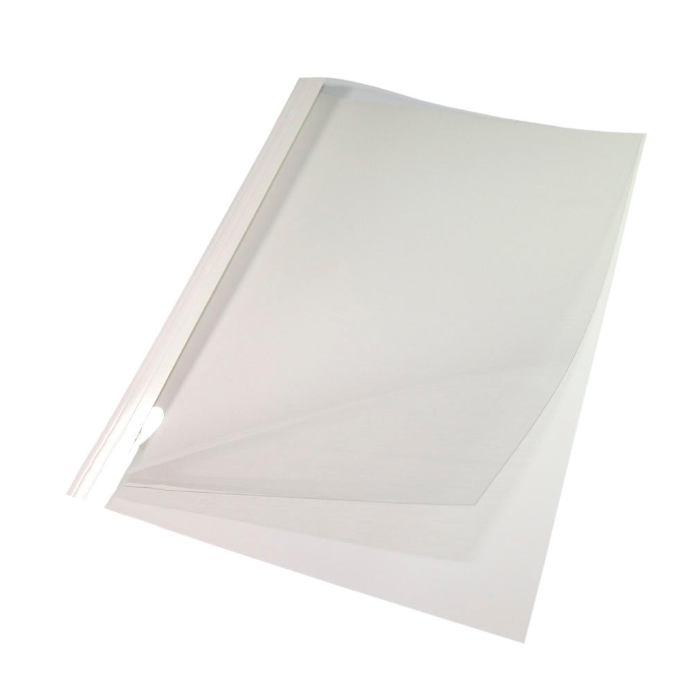 Capa Térmica Crystal Paper Branco A4 20mm 181 à 200 fls 05un
