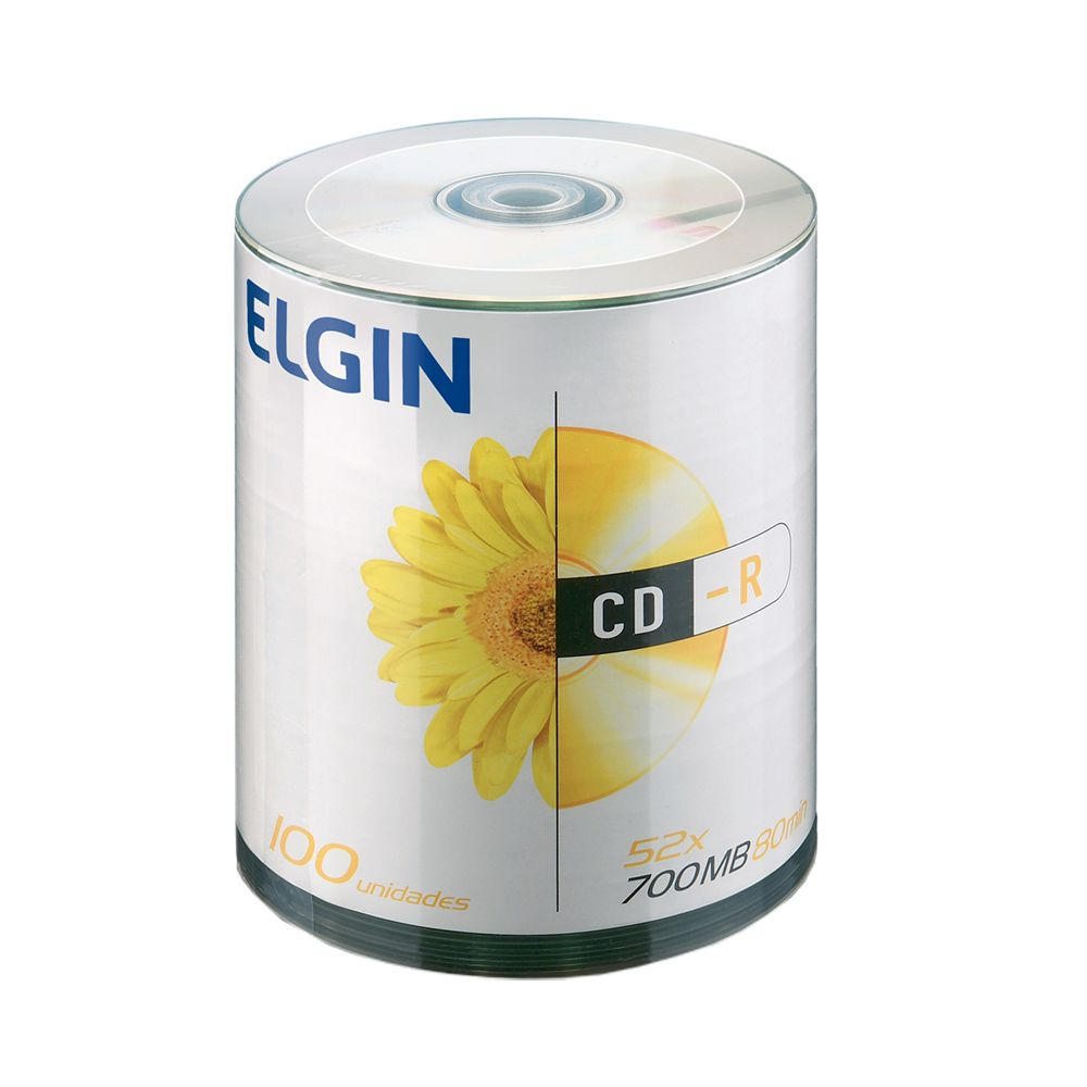 CD Virgem Gravável com logo CD-R 700mb/80min 52x Elgin 600un