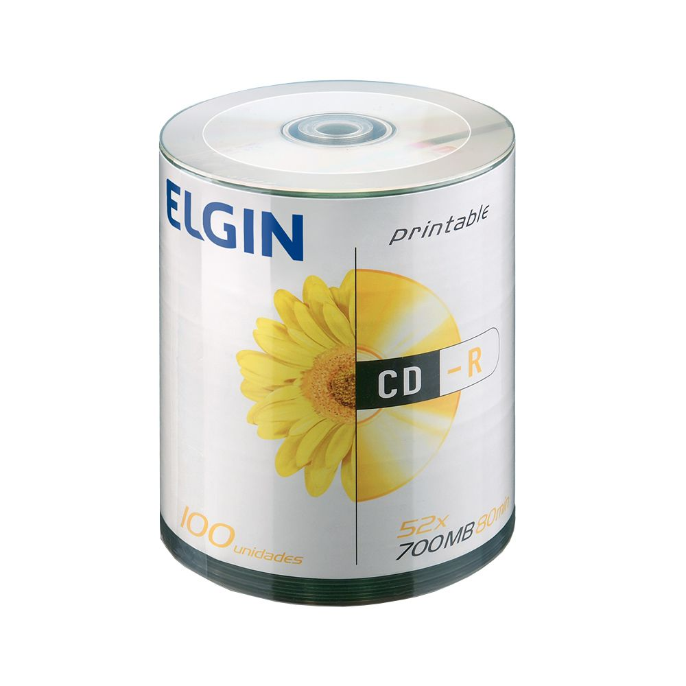 CD Virgem Printable CD-R 700mb/80min 52x Elgin 1200un