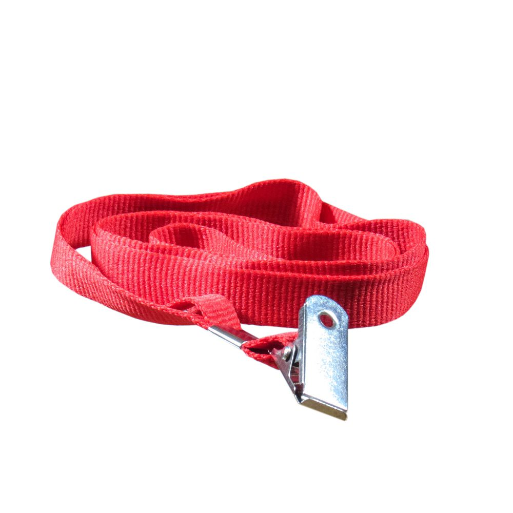 Cordão para Crachá com Jacaré Vermelho 12mm Marpax 10un