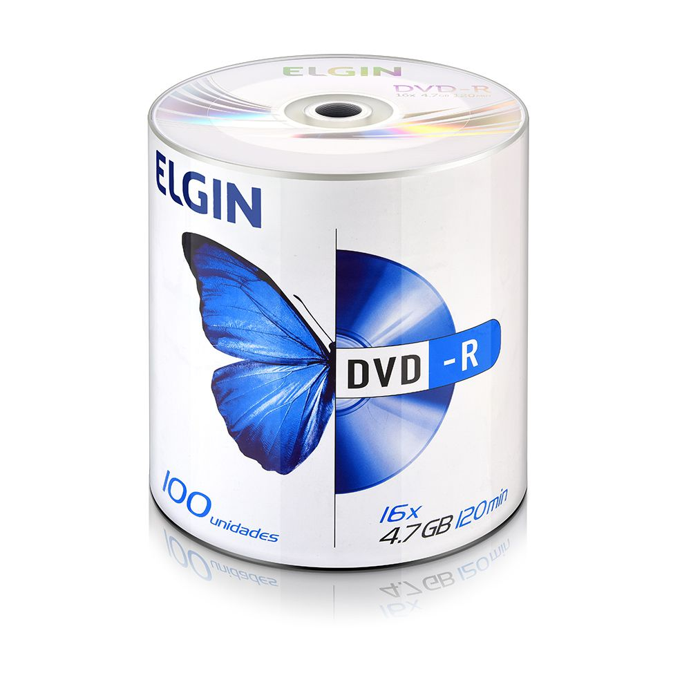 DVD Virgem Gravável logo DVD-R 4.7GB/120min 16x Elgin 1200un