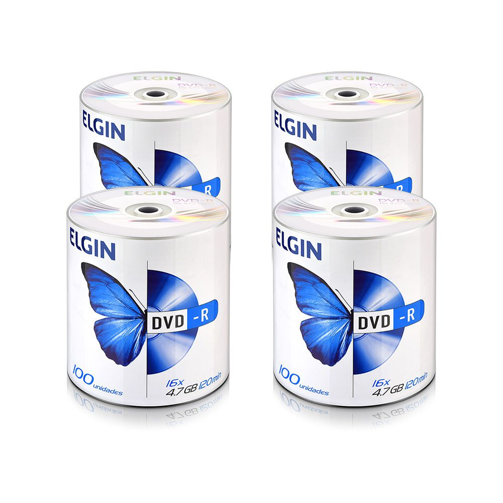 DVD Virgem Gravável logo DVD-R 4.7GB/120min 16x Elgin 400un