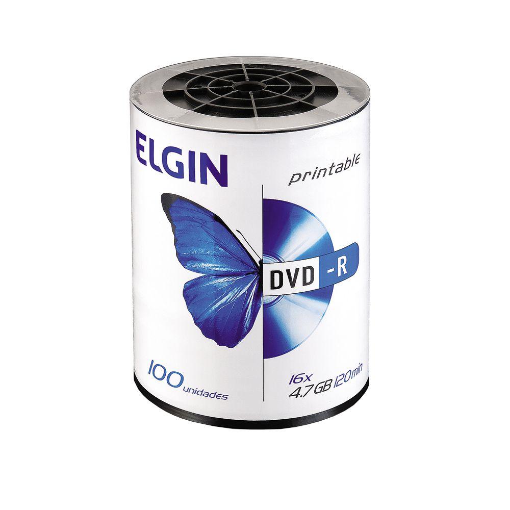 DVD Virgem Printable DVD-R 4.7GB/120min 16x Elgin 1200un