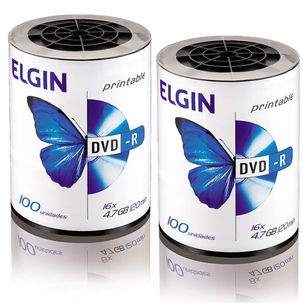 DVD Virgem Printable DVD-R 4.7GB/120min 16x Elgin 200un