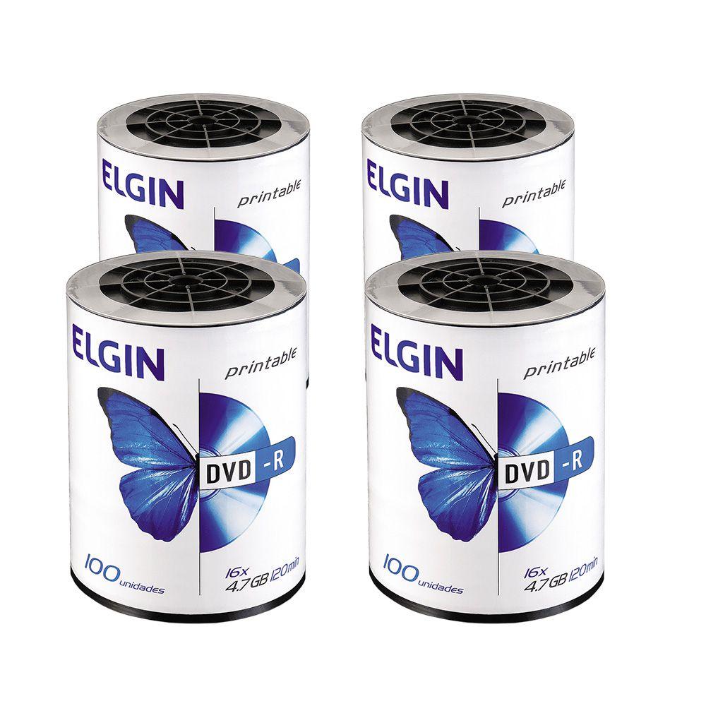 DVD Virgem Printable DVD-R 4.7GB/120min 16x Elgin 400un