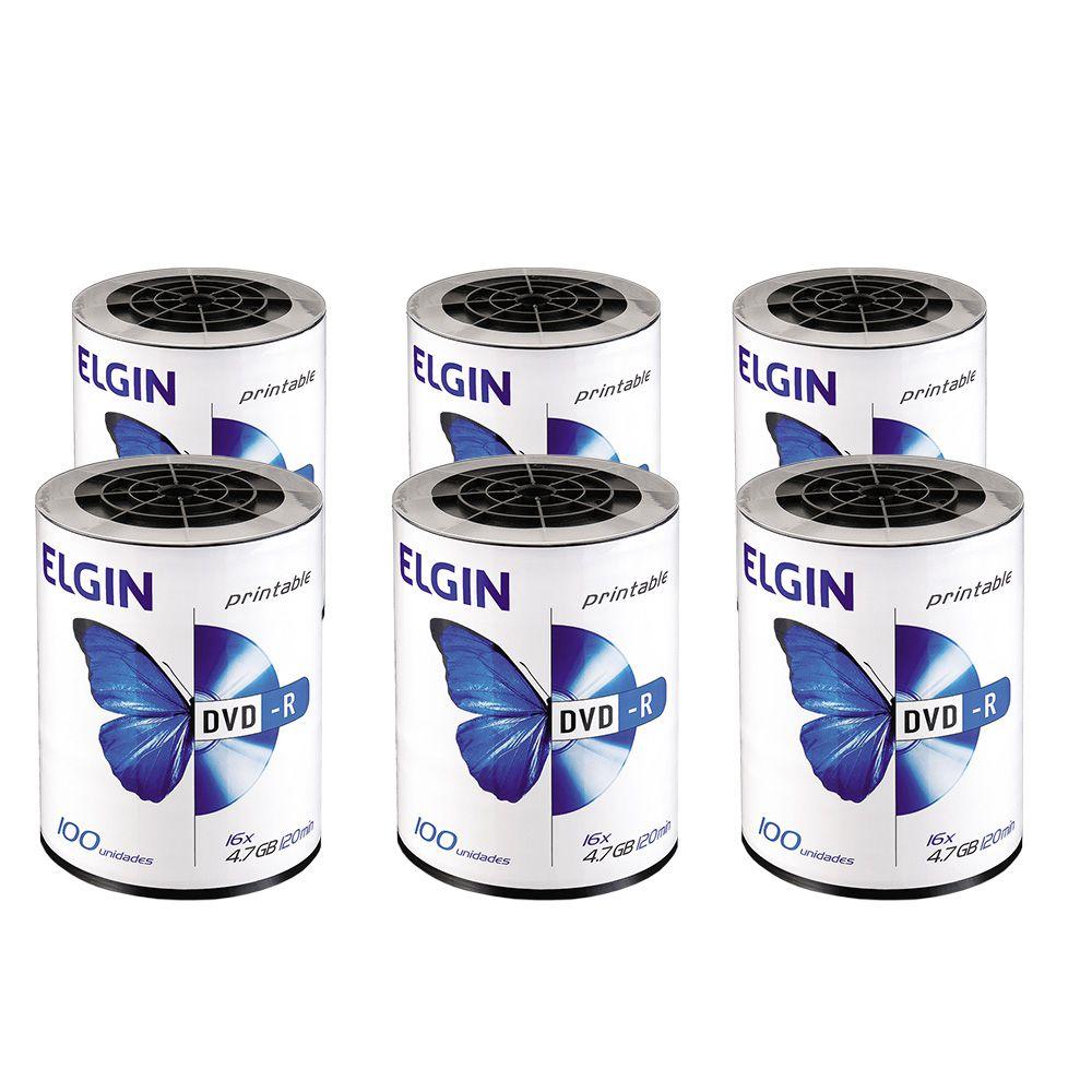 DVD Virgem Printable DVD-R 4.7GB/120min 16x Elgin 600un