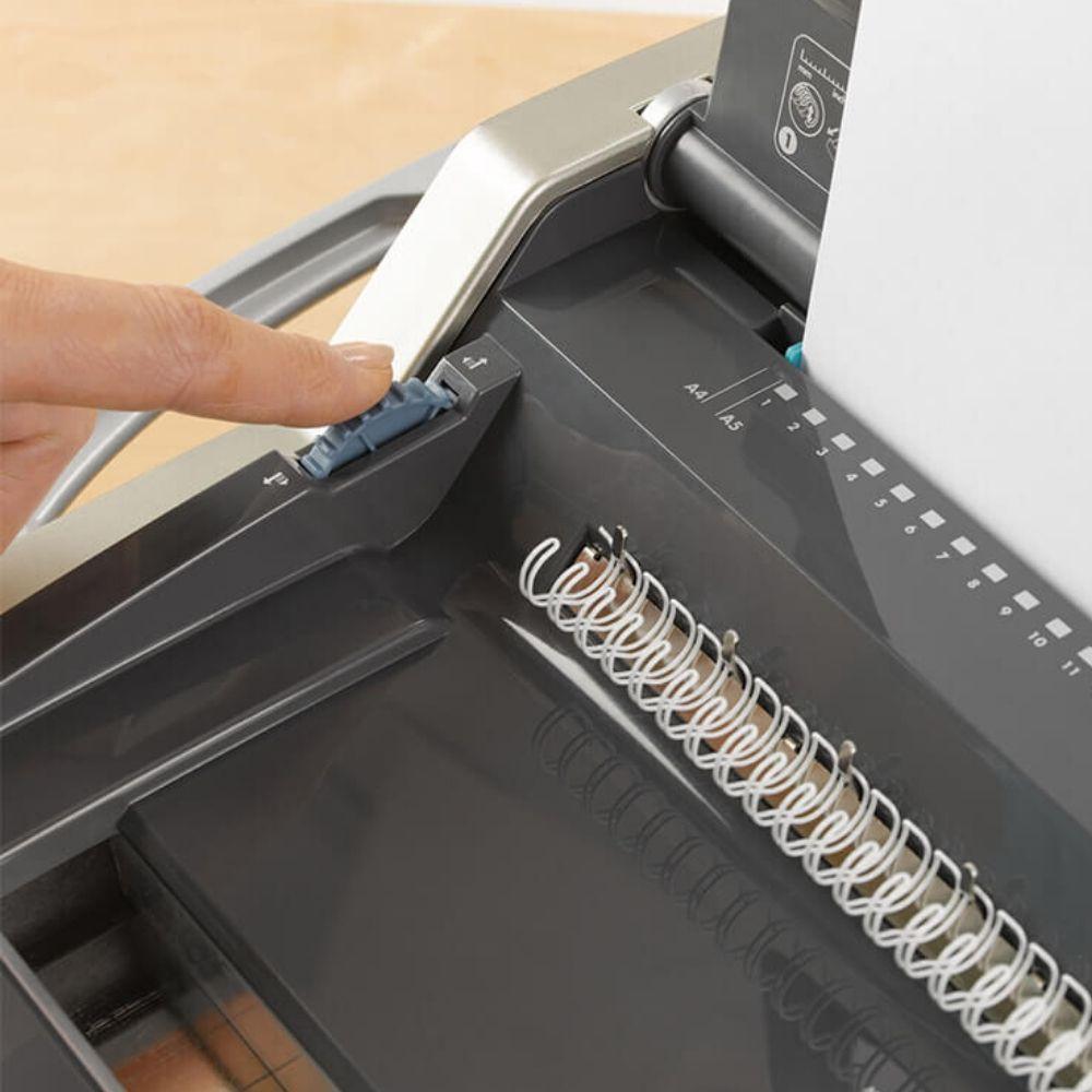 Encadernadora de Wire-o 3x1 A4/A5 Manual Galaxy Fellowes