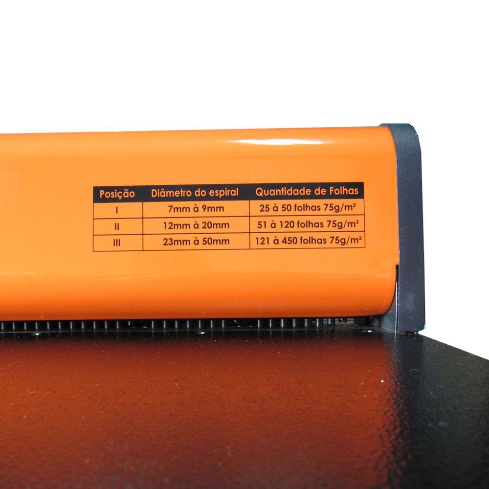 Encadernadora para Espiral Furo Redondo A4/Ofício PMX-15 Fls