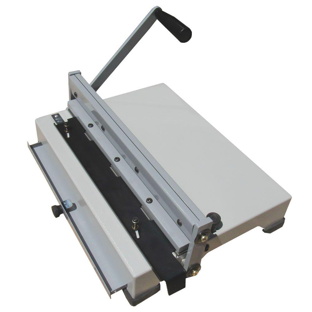 Encadernadora para espiral manual A4 e Ofício PEX-15 15fls