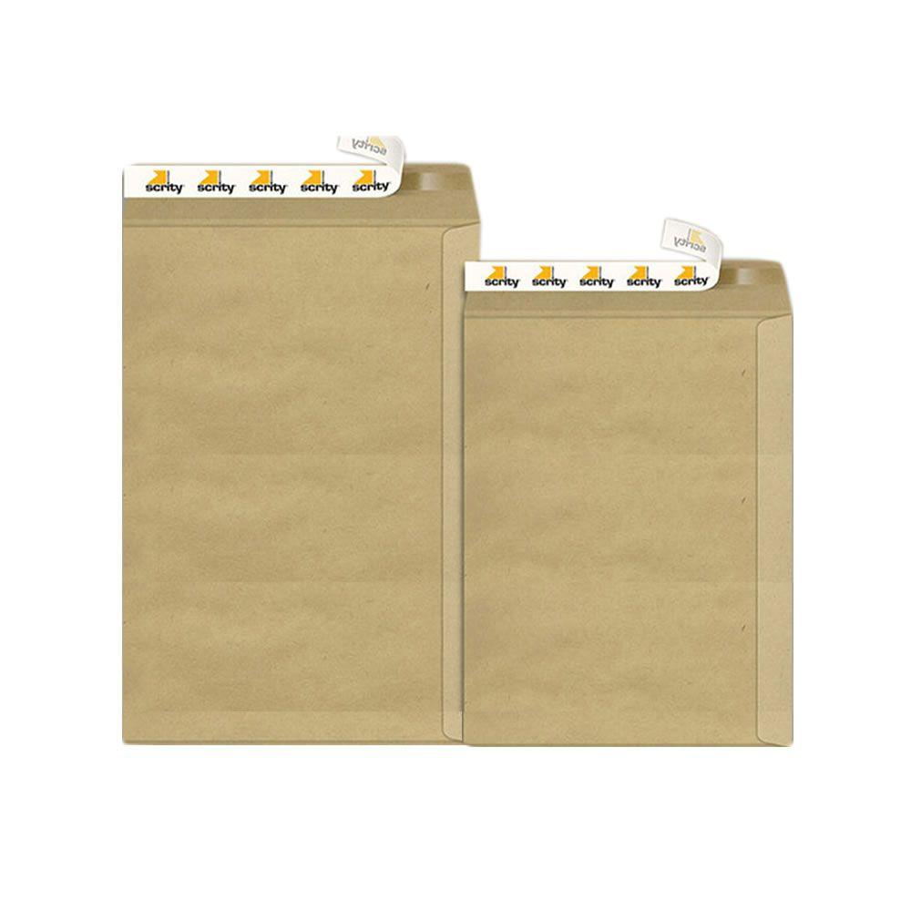 Envelope Adesivo Kraft Pardo SKN634 240x340mm Scrity 100un