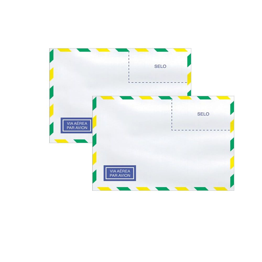 Envelope Carta Aéreo Branco COF015 114x162mm Scrity 1000un