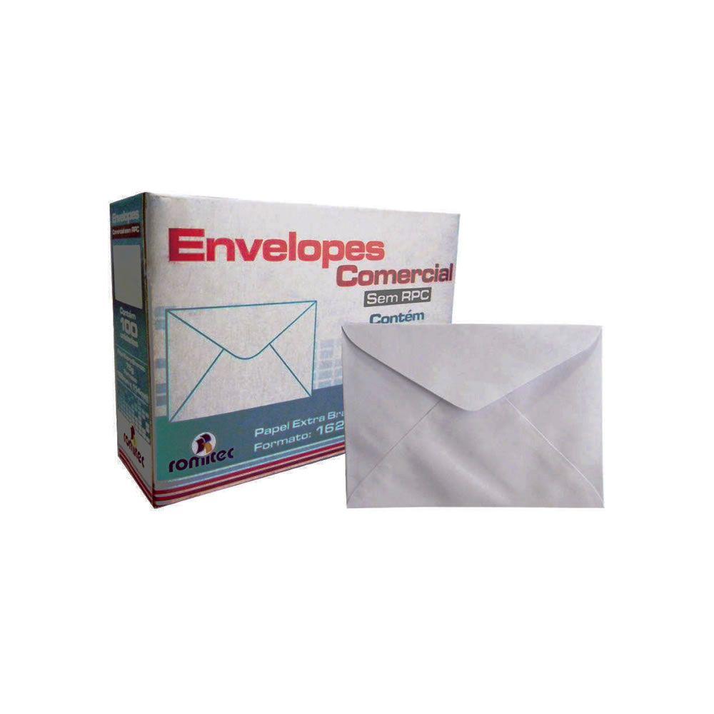 Envelope Carta Liso Branco 75g/m² 114x162mm Plastpark 100un