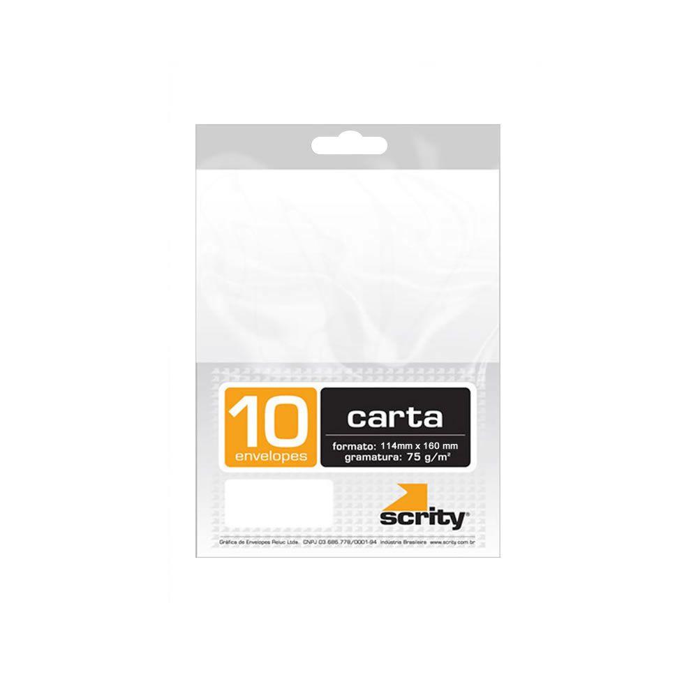 Envelope Carta Liso Branco COF130 114x162mm Scrity 10un