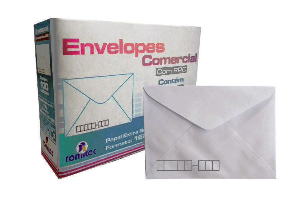 Envelope Carta RPC Branco 114x162mm Plastpark 100un