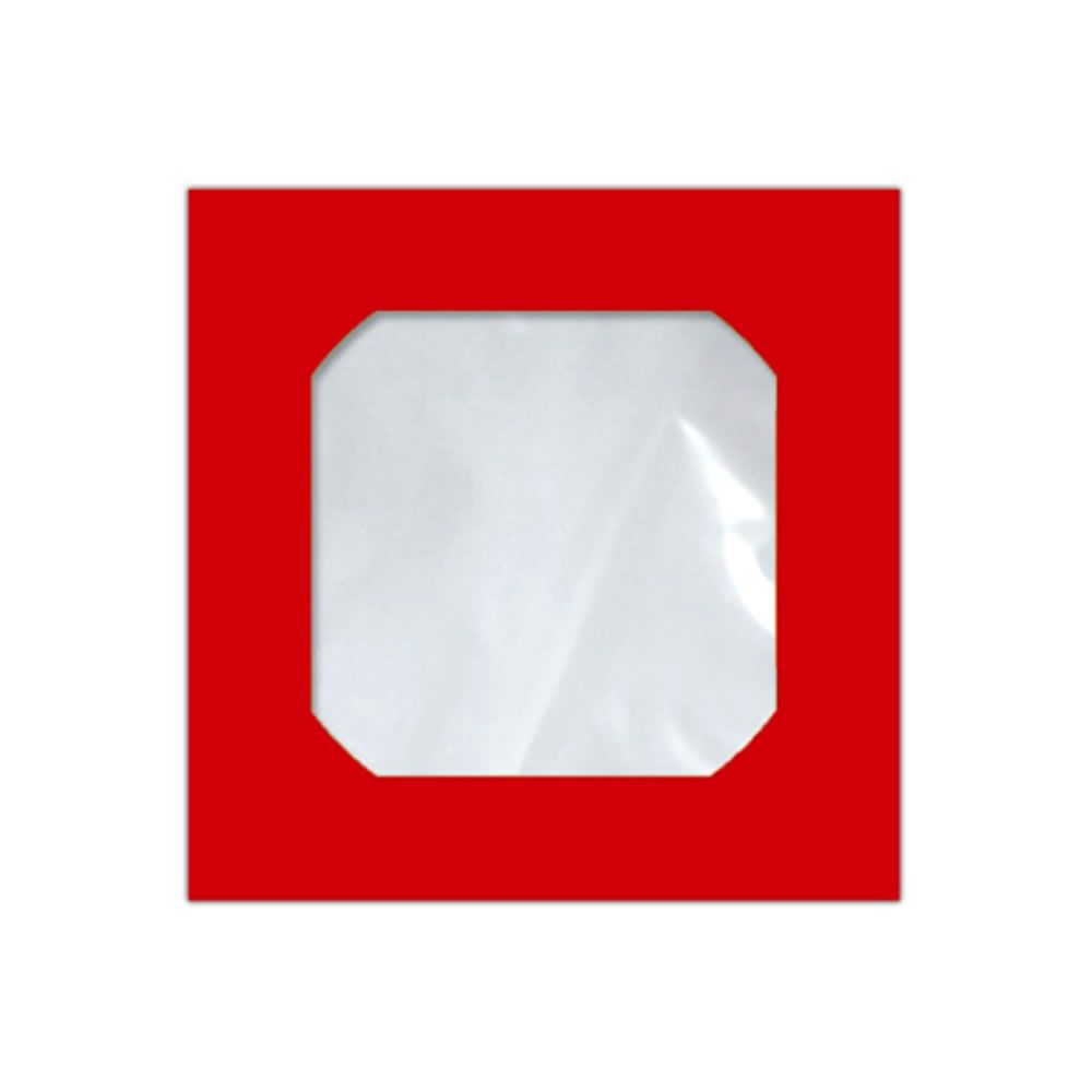 Envelope CD e DVD Vermelho CMD004 125x125mm Scrity 250un