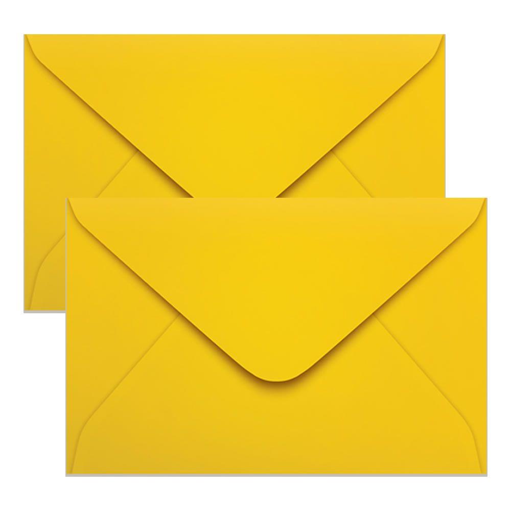 Envelope Convite de Casamento Amarelo RJ 160x235mm Scrity 100un