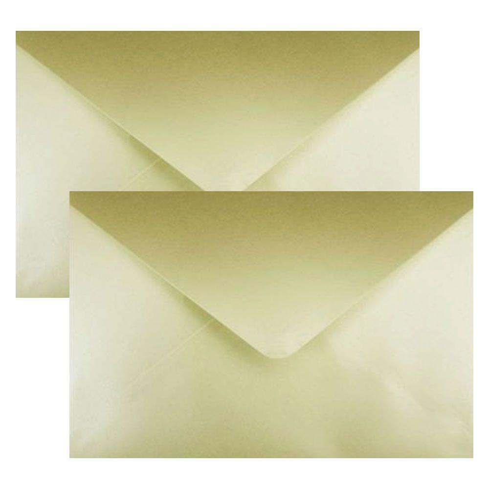 Envelope Convite de Casamento Creme Brilhante Scrity 100un