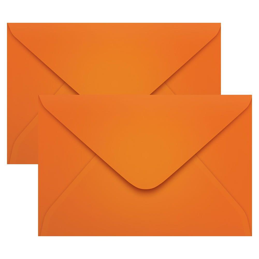 Envelope Convite de Casamento Laranja Cartagena 160x235mm Scrity 100un