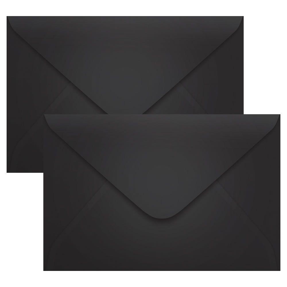 Envelope Convite de Casamento Preto Los Angeles 160x235mm Scrity 100un