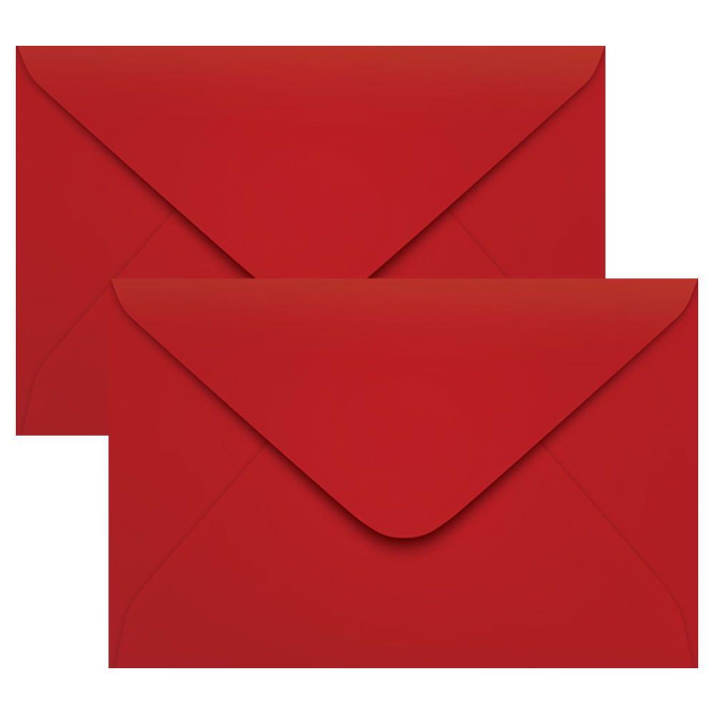 Envelope Convite de Casamento Vermelho Pequim 160x235 Scrity 100un