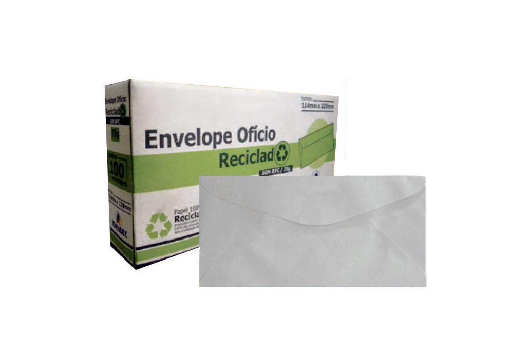 Envelope Ofício Reciclado Reciclado 114x229mm Plastpark 100un