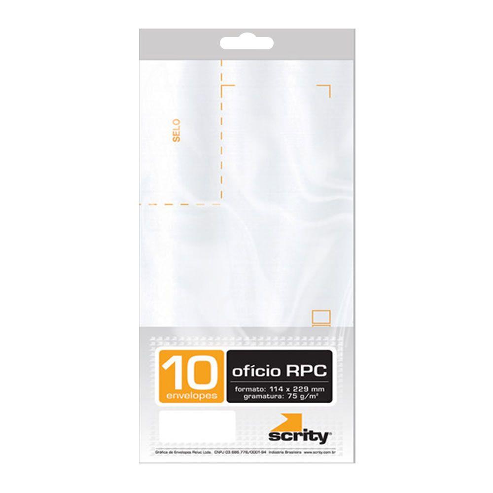 Envelope Ofício RPC Branco COF142 114x162mm Scrity 10un