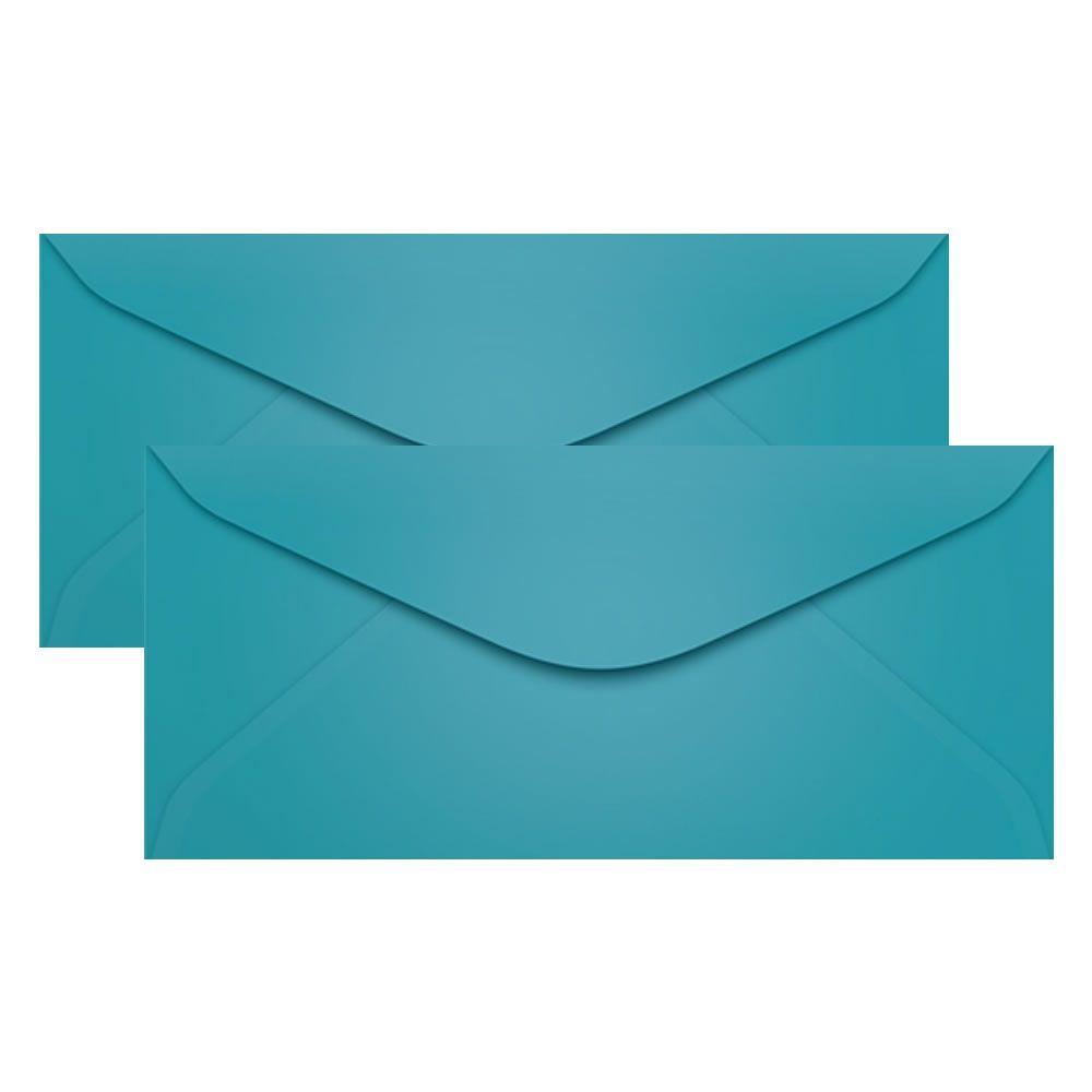 Envelope para Convite Azul Turqueza 114x229mm Scrity 100un