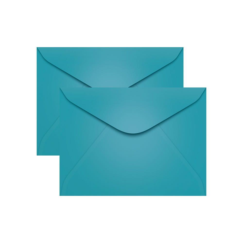 Envelope para Convite Azul Turqueza Bahamas 114x162mm Scrity 100un