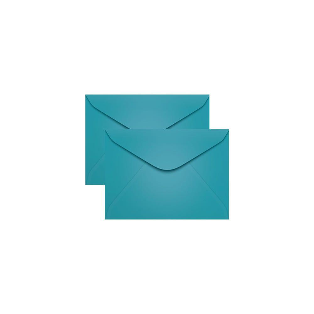 Envelope para Convite Azul Turqueza Bahamas 72x108mm Scrity 100un